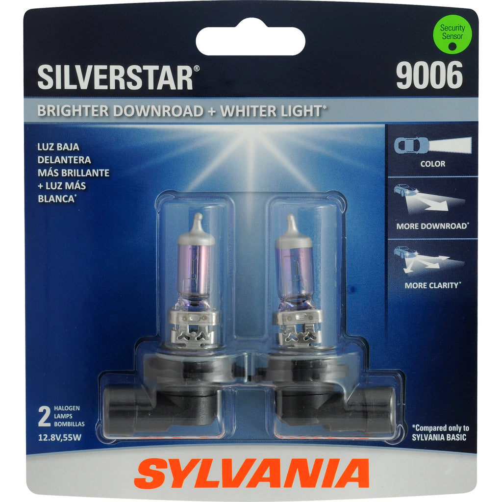 2-PK SYLVANIA 9006 SilverStar High Performance Halogen Headlight Bulb