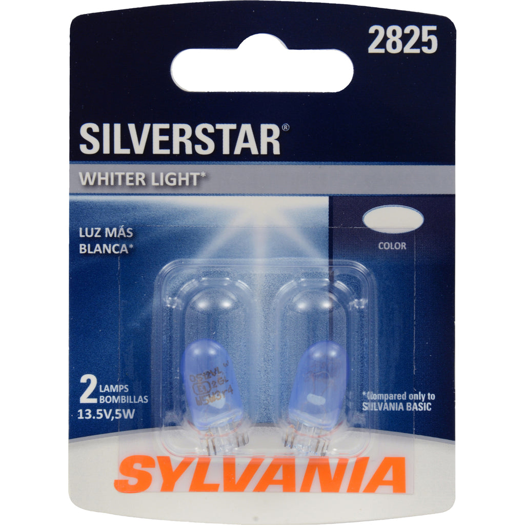 2-PK SYLVANIA 2825 SilverStar High Performance Automotive Light Bulb