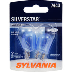 2-PK SYLVANIA 7443 SilverStar High Performance Automotive Light Bulb