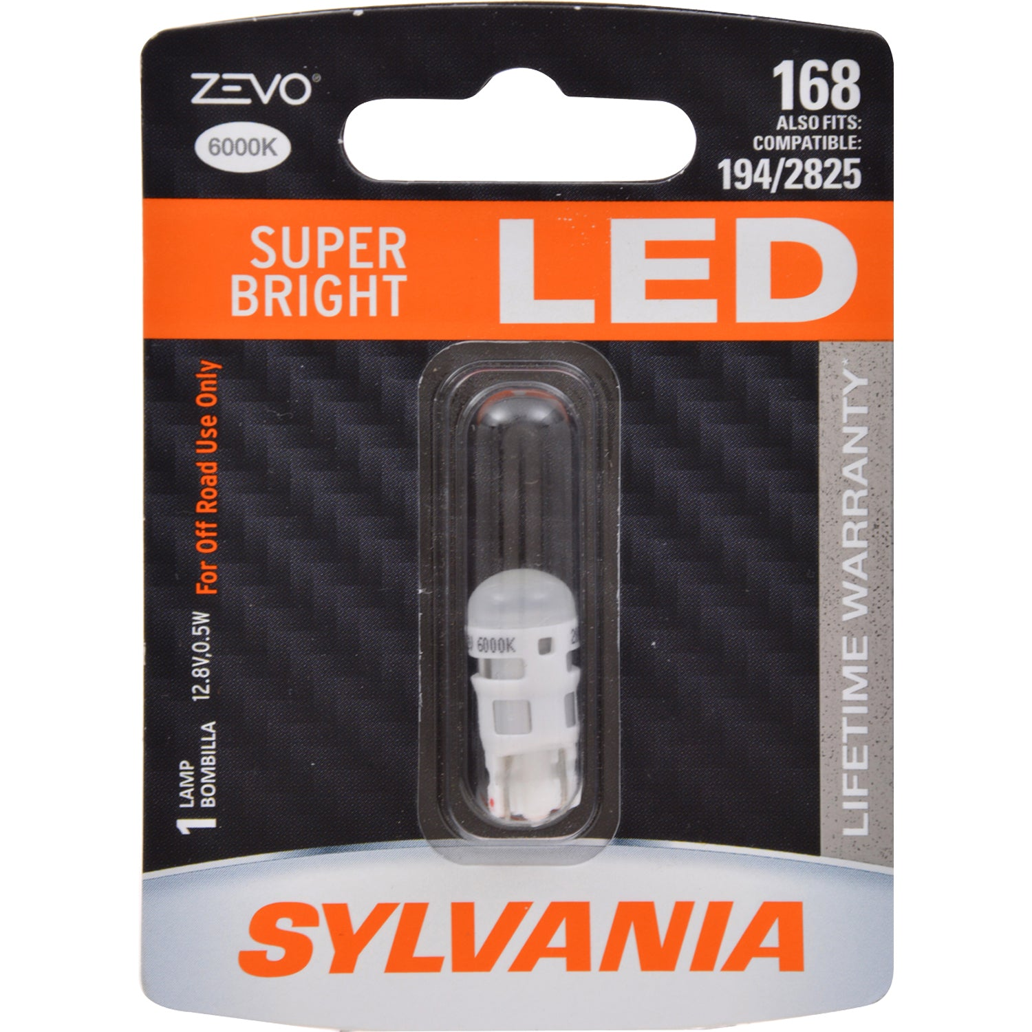 SYLVANIA ZEVO 168 T10 W5W White LED Automotive Bulb