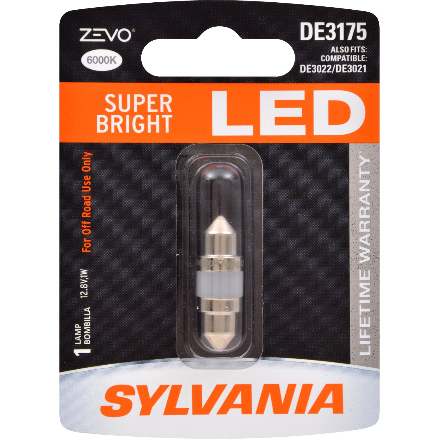 SYLVANIA ZEVO DE3175 31mm Festoon White LED Bulb
