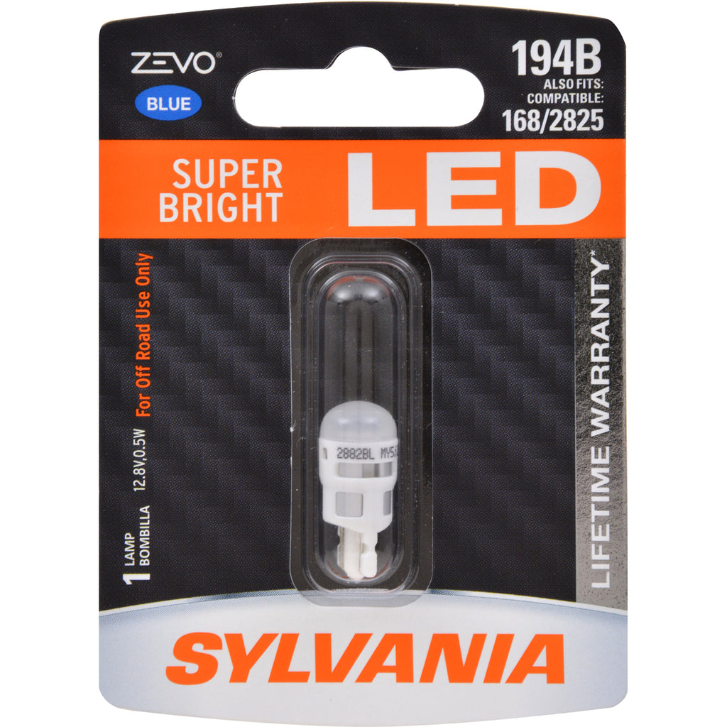 SYLVANIA ZEVO 194 T10 W5W Blue LED Automotive Bulb