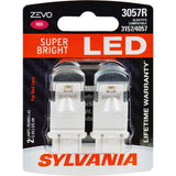 2-PK SYLVANIA ZEVO 3057 Red LED Automotive Bulb