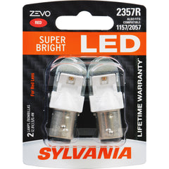 2-PK SYLVANIA ZEVO 2357 Red LED Automotive Bulb