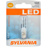SYLVANIA 168 T10 W5W Amber LED Automotive Bulb