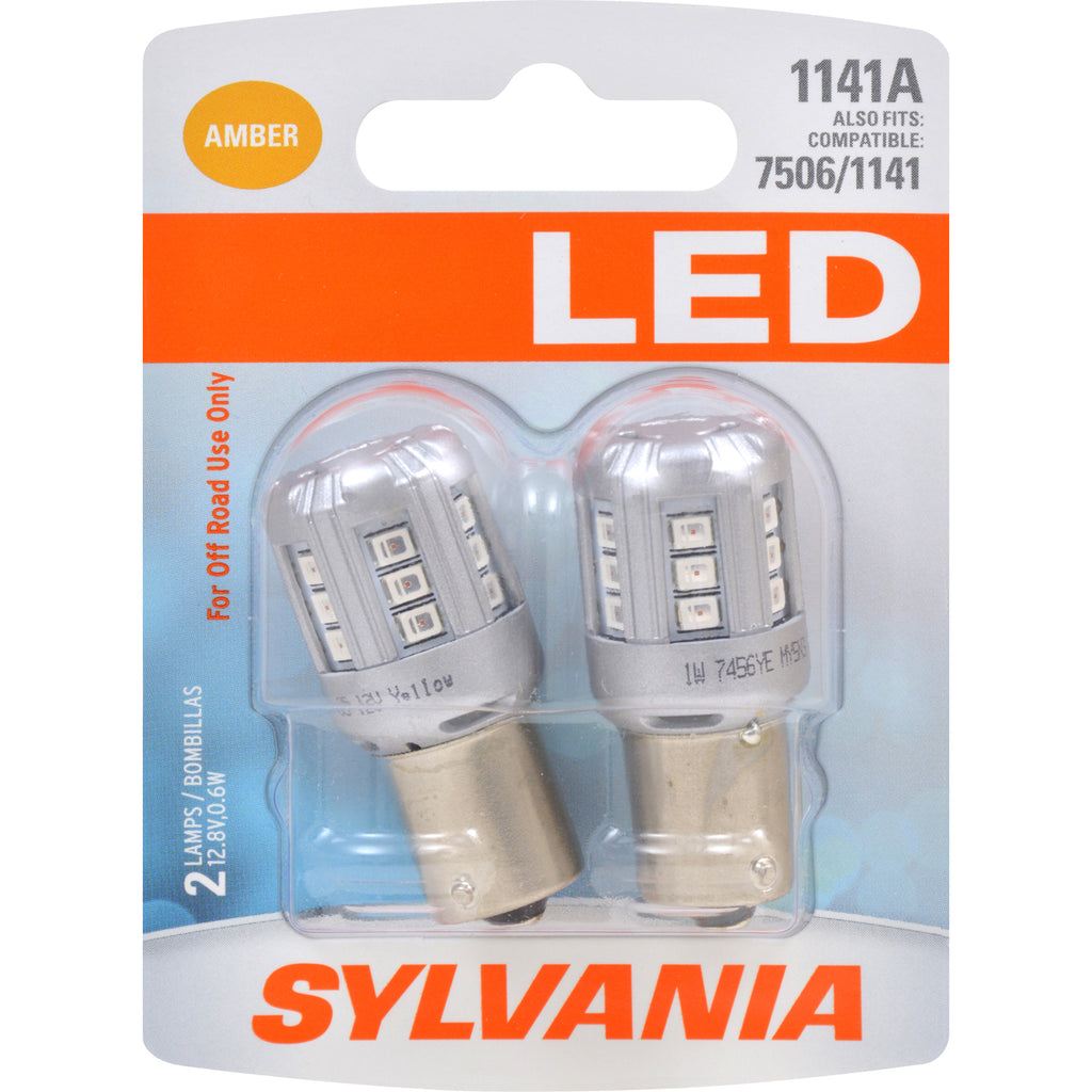 2-PK SYLVANIA 1141 Amber LED Automotive Bulb