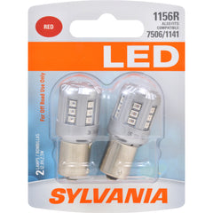 2-PK SYLVANIA 1156 Red LED Automotive Bulb