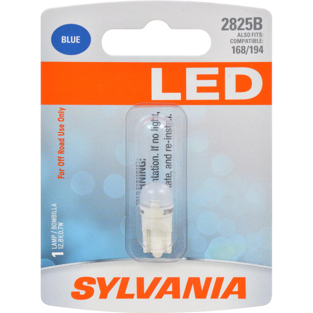 SYLVANIA 2825 T10 W5W Blue LED Automotive Bulb