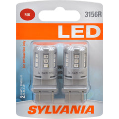 2-PK SYLVANIA 3156 Red LED Automotive Bulb