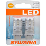 2-PK SYLVANIA 3457 Amber LED Automotive Bulb