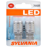 2-PK SYLVANIA 7440 T20 Red LED Automotive Bulb