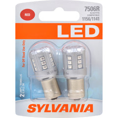 2-PK SYLVANIA 7506 Red LED Automotive Bulb