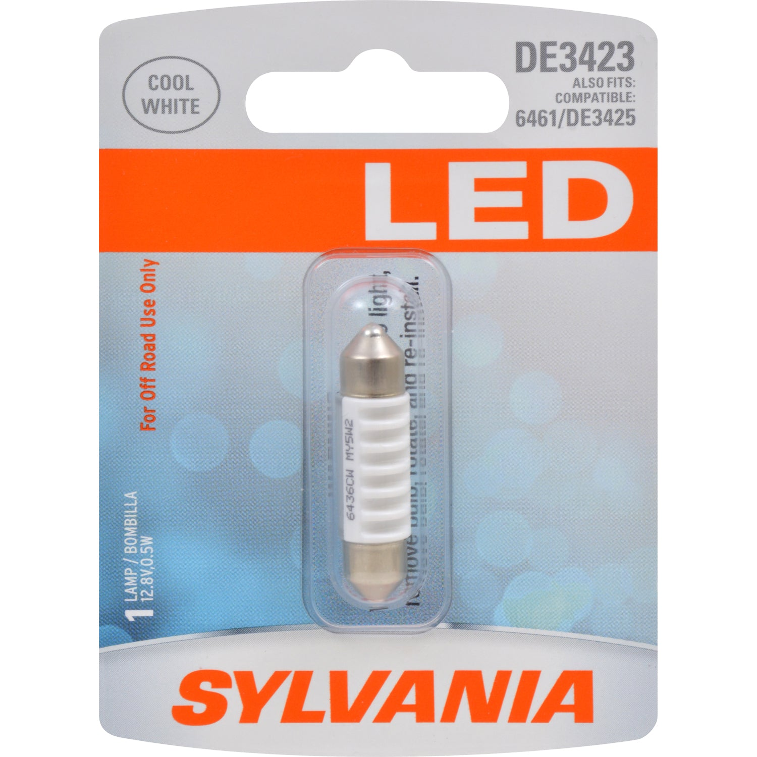 SYLVANIA DE3423 36mm Festoon White LED Automotive Bulb