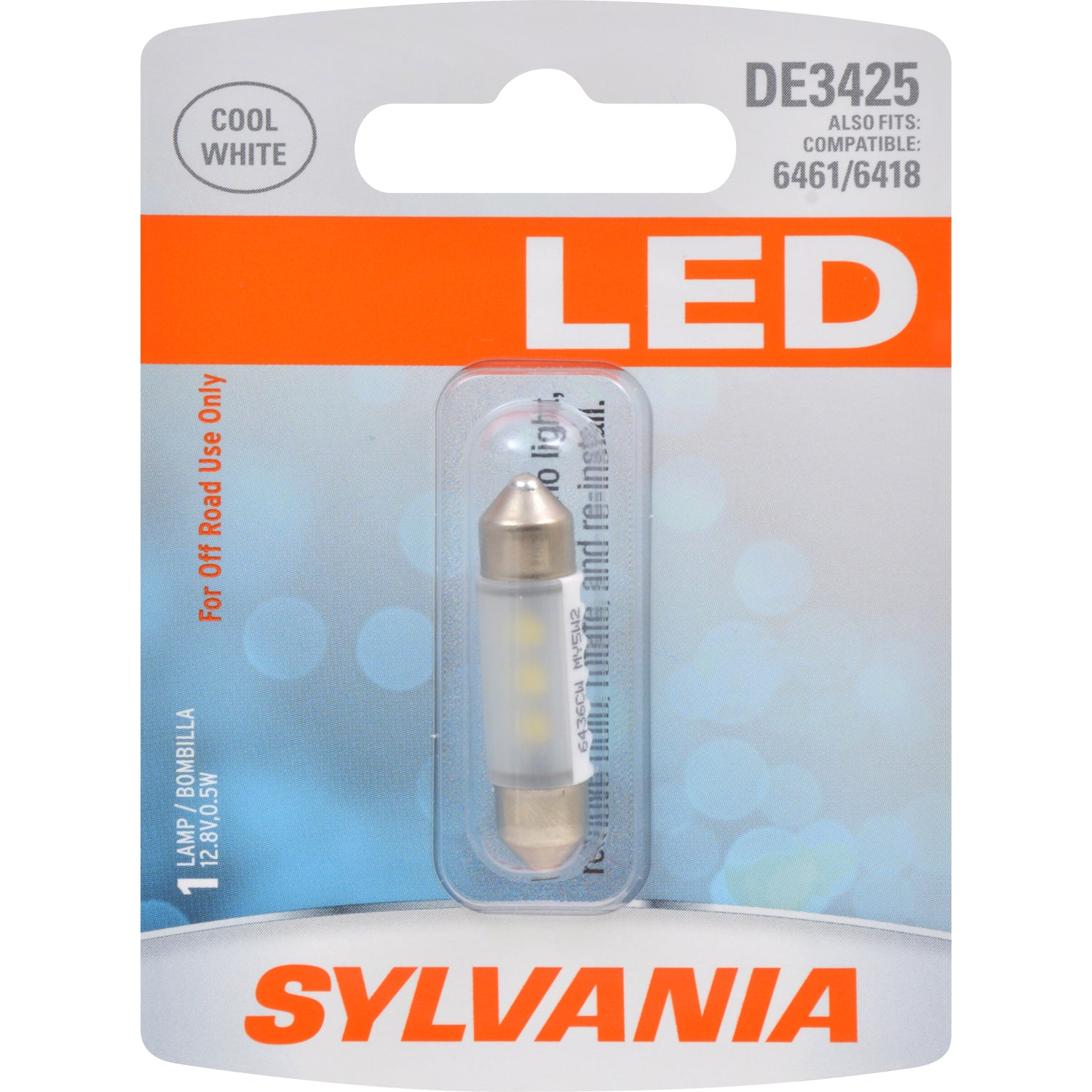 SYLVANIA DE3425 36mm Festoon White LED Automotive Bulb