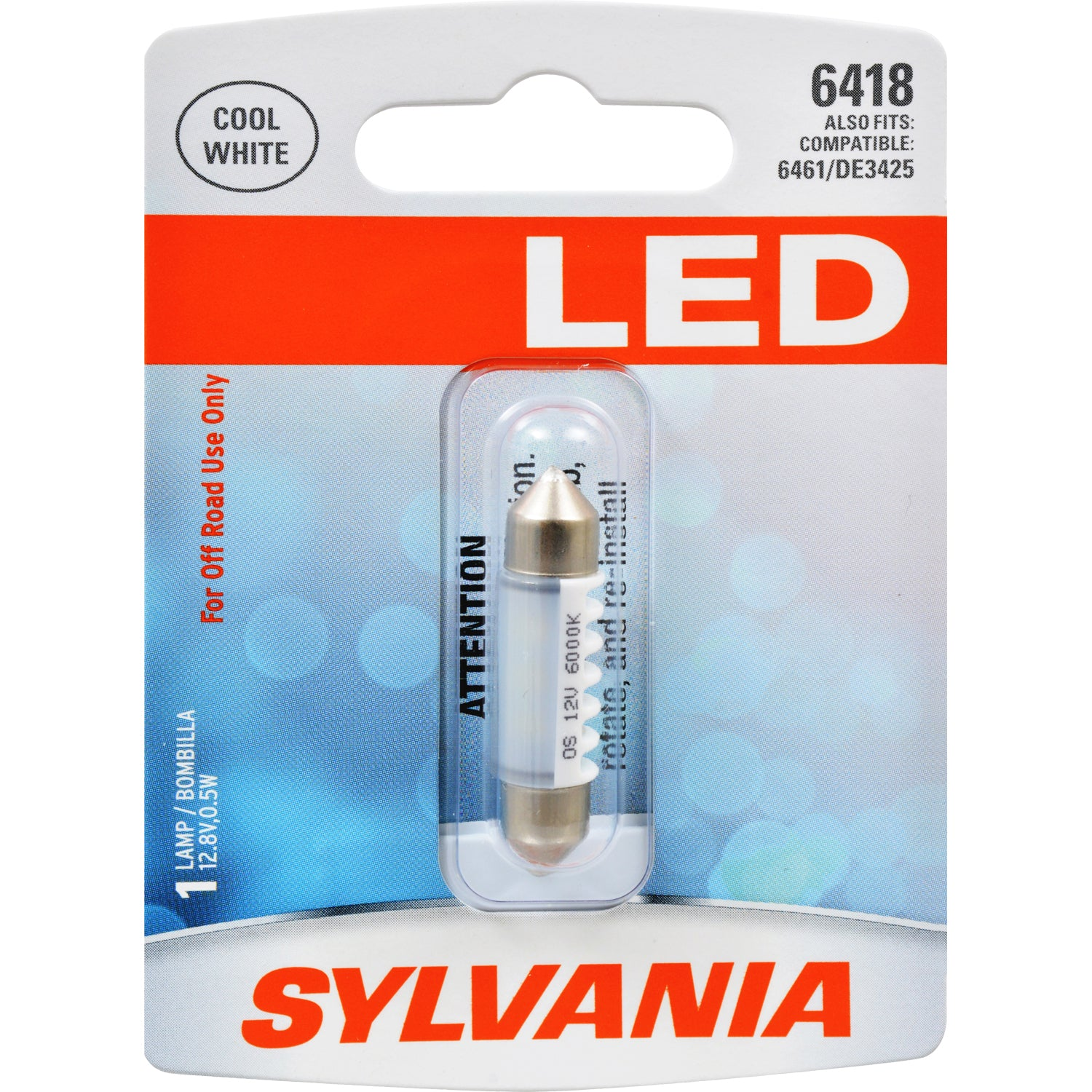 SYLVANIA 6418 36mm Festoon White LED Automotive Bulb