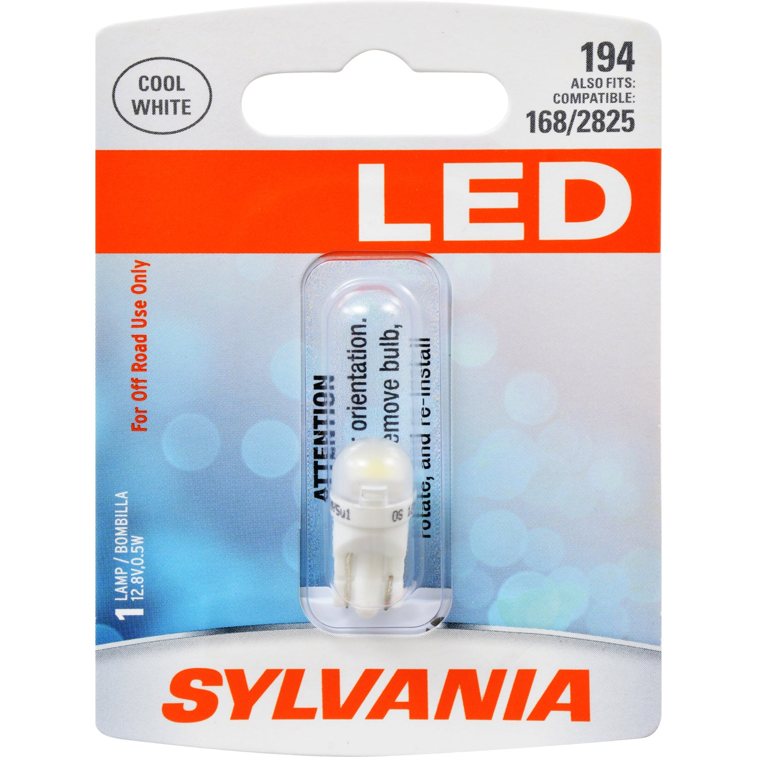 SYLVANIA 194 T10 W5W White LED Automotive Bulb