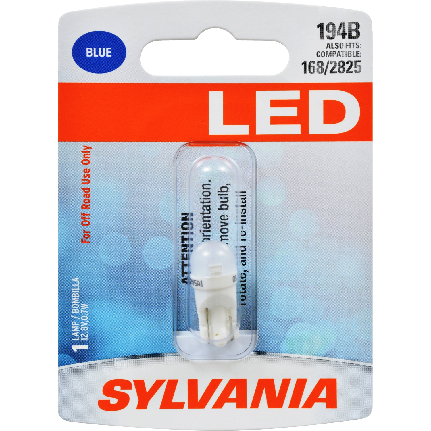 SYLVANIA 194 T10 W5W Blue LED Automotive Bulb