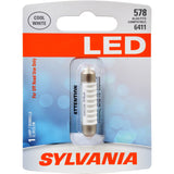 1-PK SYLVANIA 578 41mm Festoon White LED Bulb