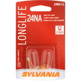 2-PK SYLVANIA 24NA Long Life Automotive Light Bulb
