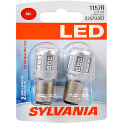 2-PK SYLVANIA 1157 Red LED Automotive Bulb