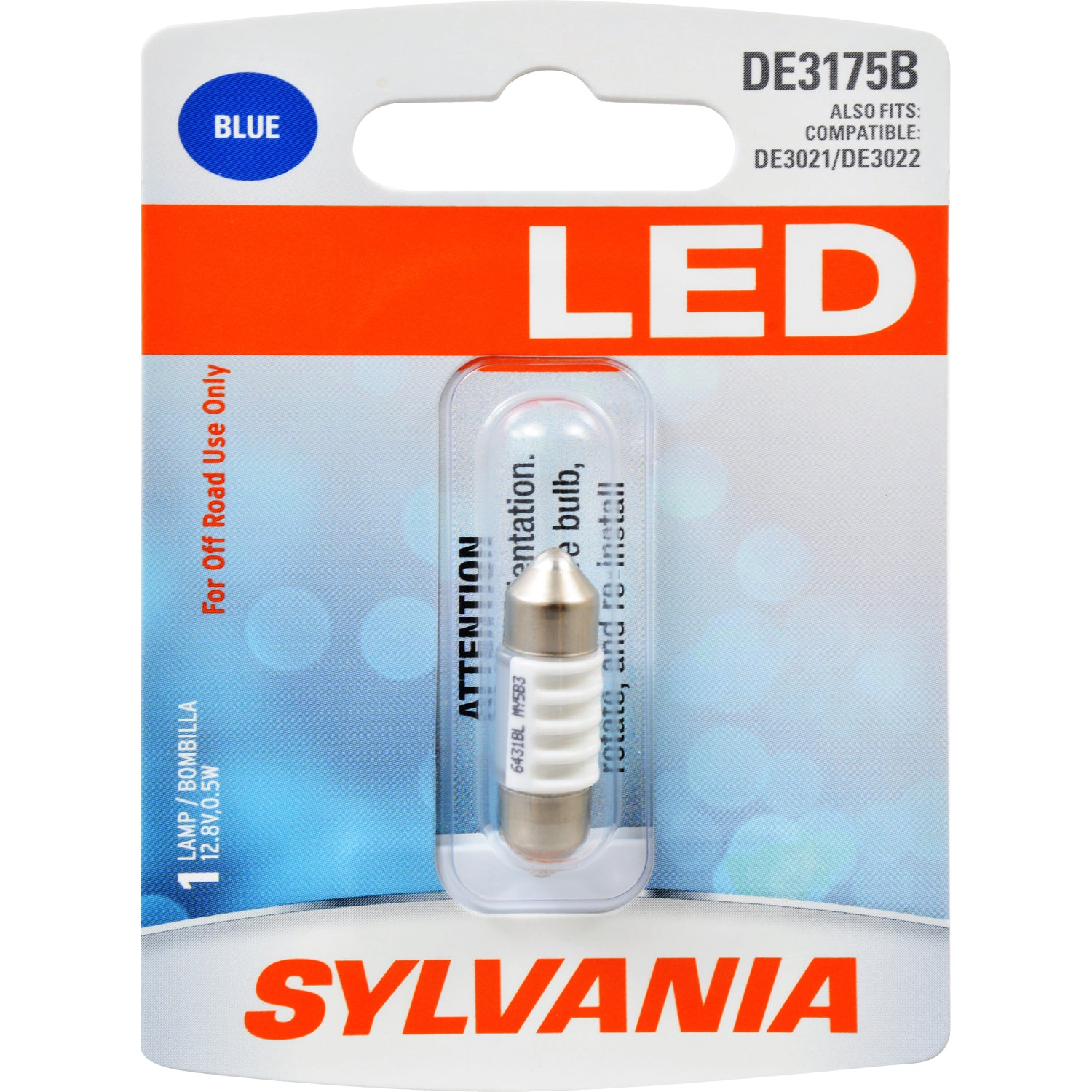 SYLVANIA DE3175 31mm Festoon Blue LED Automotive Bulb
