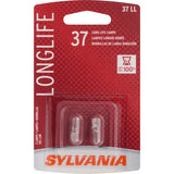 2-PK SYLVANIA 37 Long Life Automotive Light Bulb