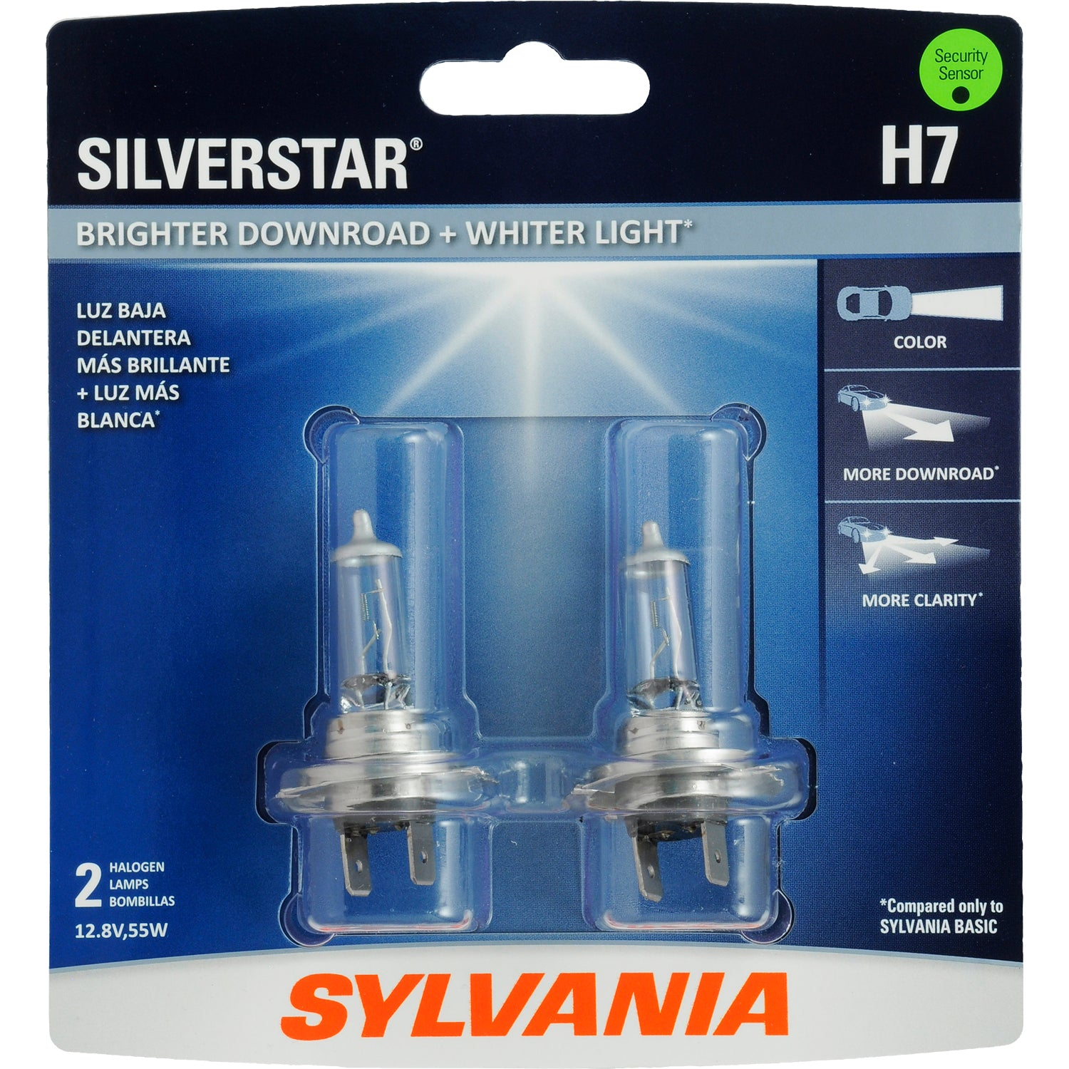 2-PK SYLVANIA H7 SilverStar High Performance Halogen Headlight Bulb