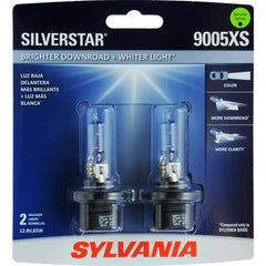 2-PK SYLVANIA 9005XS SilverStar High Performance Halogen Headlight Bulb