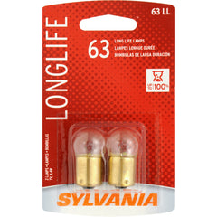 2-PK SYLVANIA 63 Long Life Automotive Light Bulb