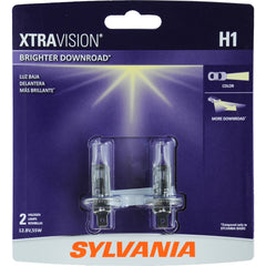 2-PK SYLVANIA H1 XtraVision Headlight Automotive Bulb