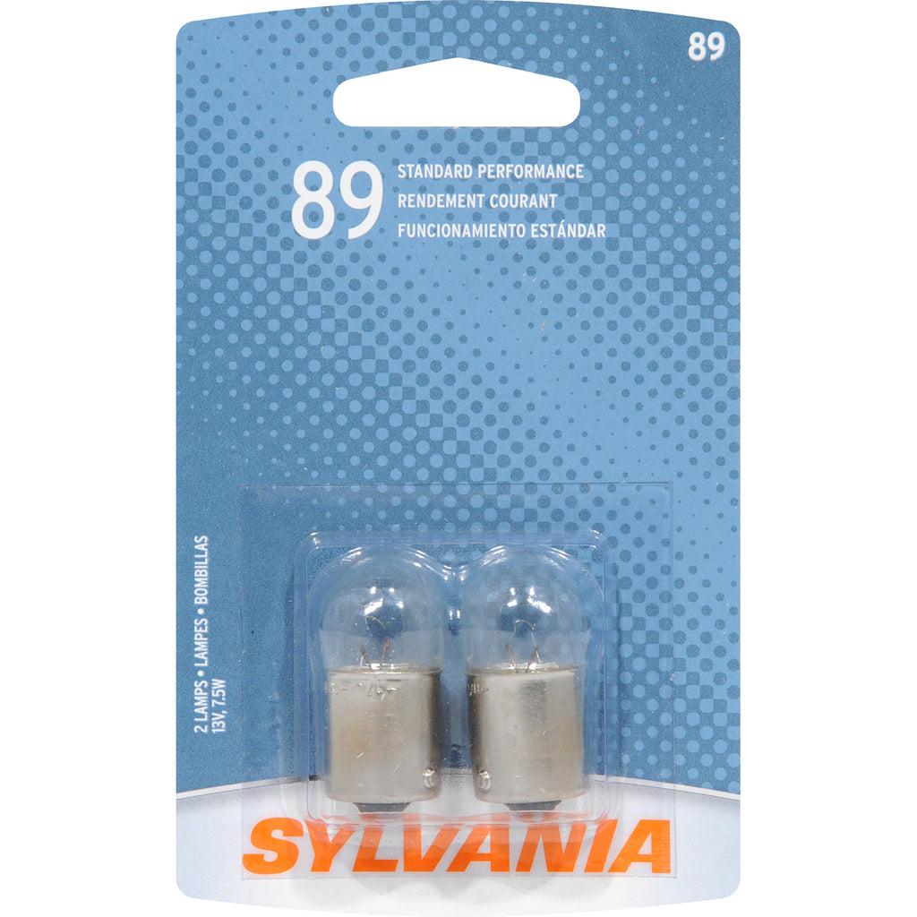 2-PK SYLVANIA 89 Basic Automotive Light Bulb