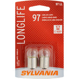 2-PK SYLVANIA 97 Long Life Automotive Light Bulb