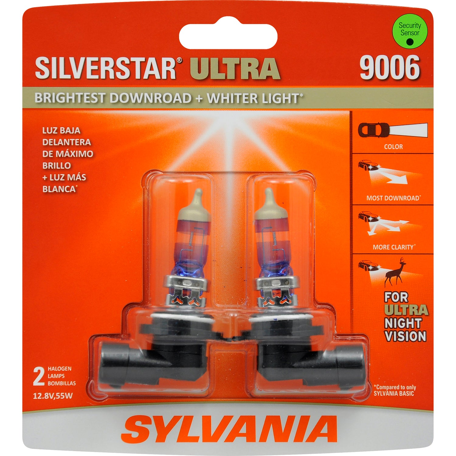 2-PK SYLVANIA 9006 HB4 SilverStar Ultra High Performance Halogen Headlight Bulb