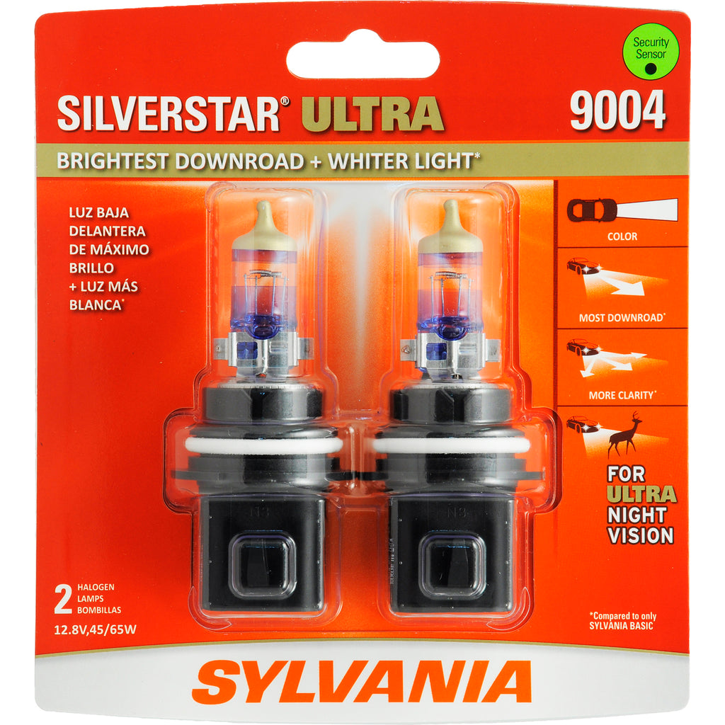 2-PK SYLVANIA 9004 SilverStar Ultra High Performance Halogen Headlight Bulb