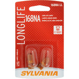 2-PK SYLVANIA 168NA Long Life Automotive Light Bulb