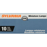 10-PK SYLVANIA 194NA Natural Amber Basic Automotive Light Bulb
