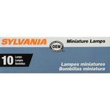 10-PK SYLVANIA 214-2 Basic Automotive Light Bulb