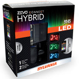 2-PK SYLVANIA 9145 ZEVO Connect Hybrid LED Color Changing System for Headlights