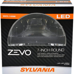 "1-PK SYLVANIA Zevo 7"" Round L6024 Street Legal LED Headlight"