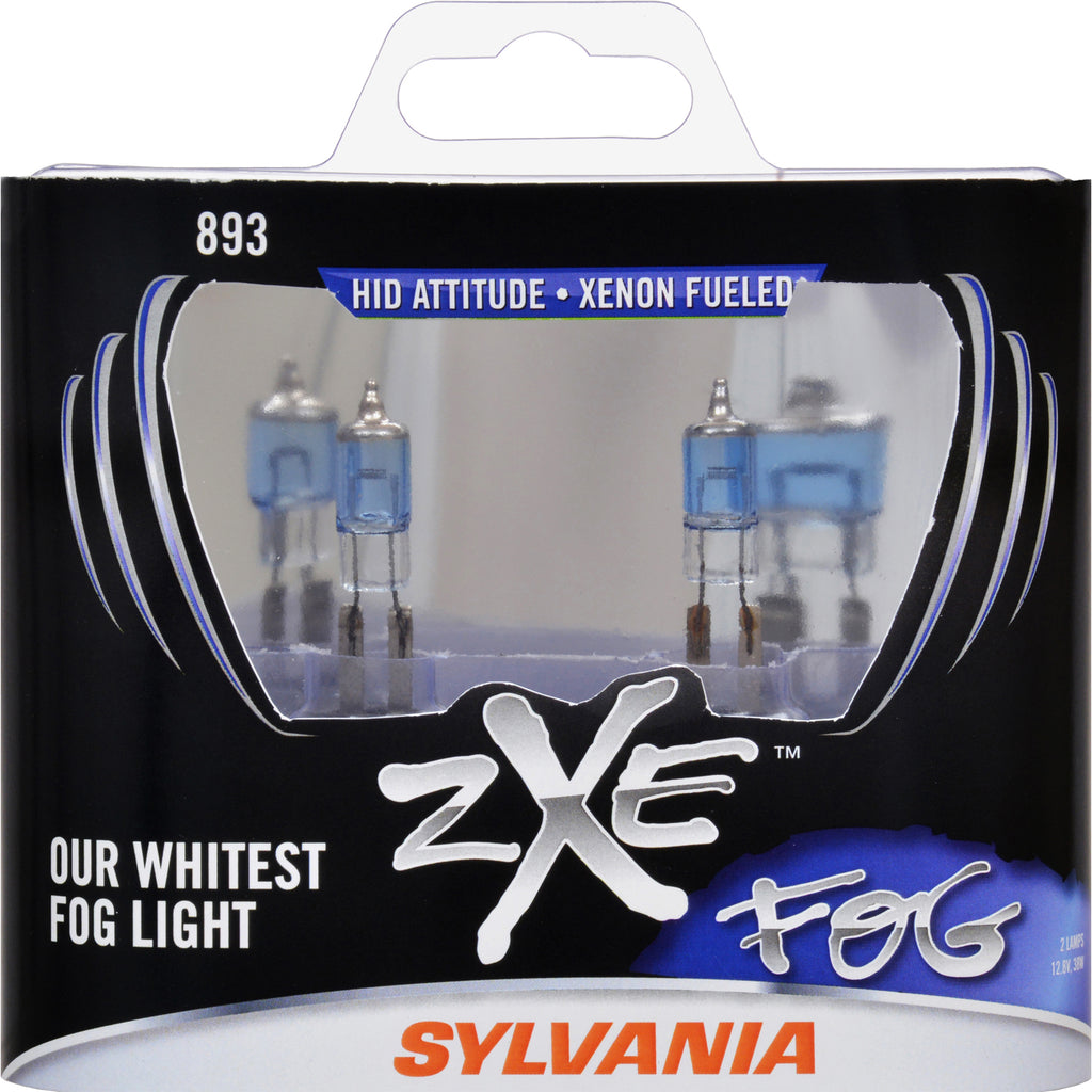 2-PK SYLVANIA 893 zXe High Performance Halogen Fog Light Bulb