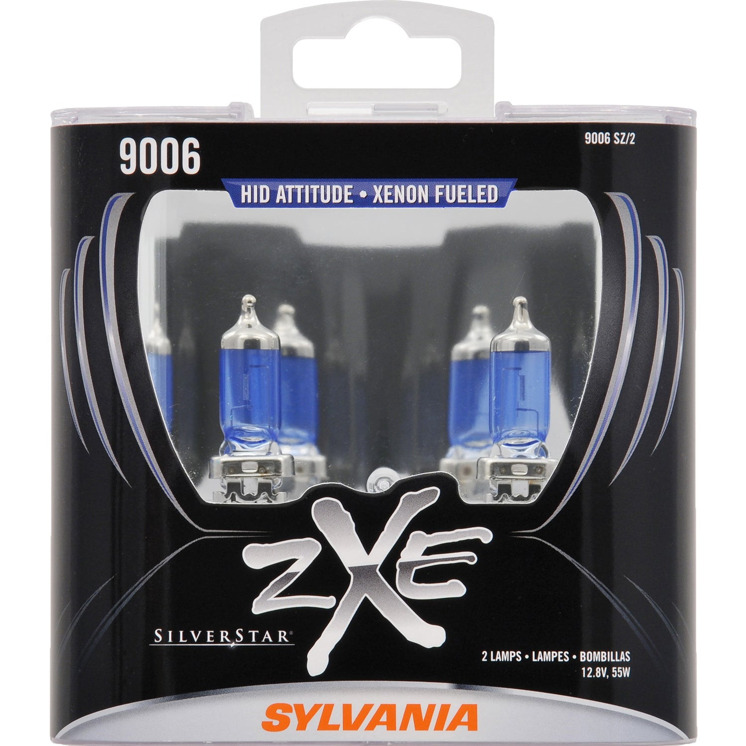 2-PK SYLVANIA 9006 SilverStar zXe High Performance Halogen Headlight Bulb