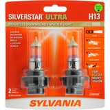 2-PK SYLVANIA H13 SilverStar Ultra High Performance Halogen Headlight Bulb