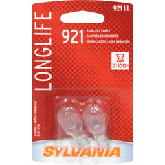2-PK SYLVANIA 921 W16W Long Life Automotive Light Bulb