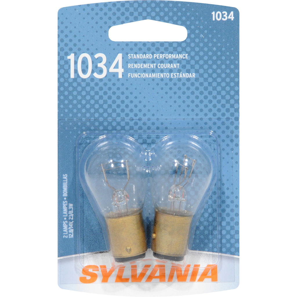 2-PK SYLVANIA 1034 Basic Automotive Light Bulb