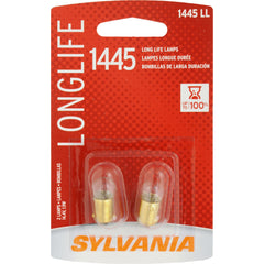 2-PK SYLVANIA 1445 Long Life Automotive Light Bulb