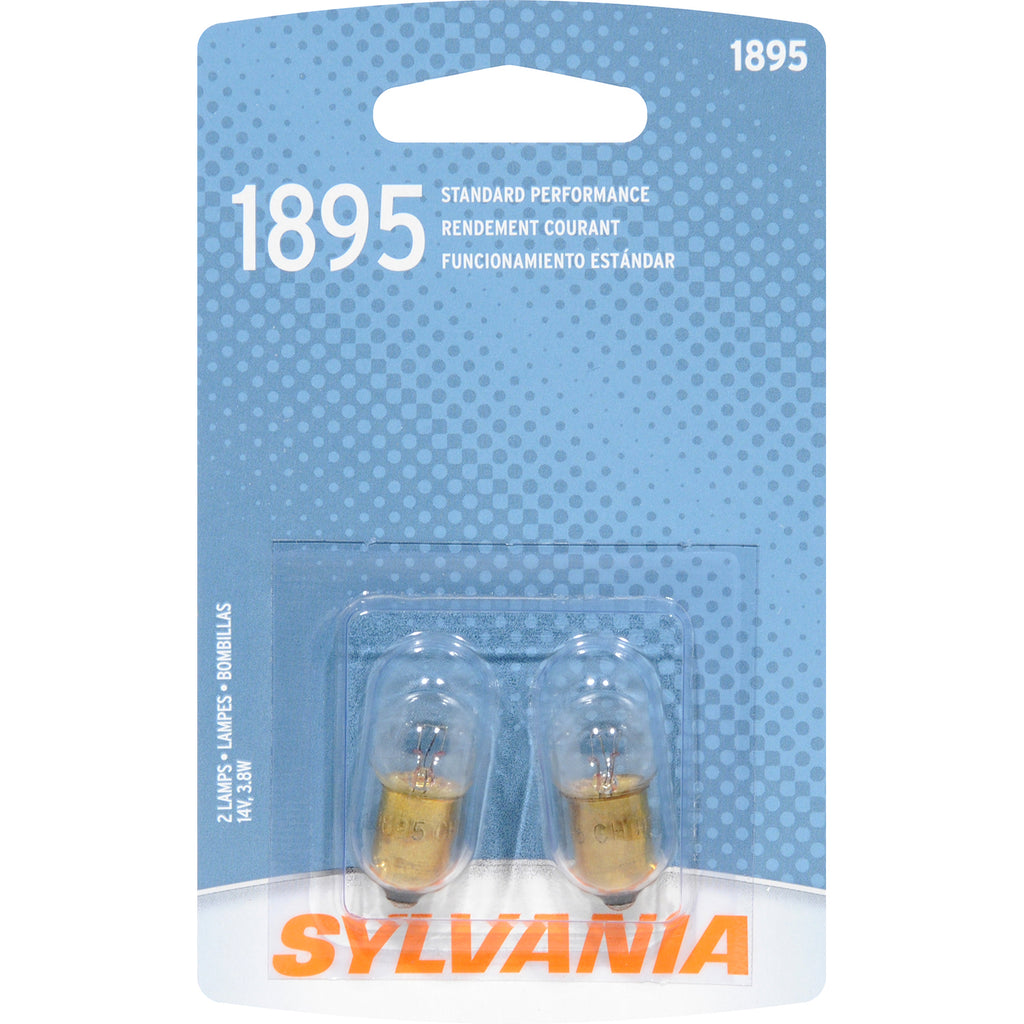 2-PK SYLVANIA 1895 Basic Automotive Light Bulb