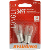 2-PK SYLVANIA 3497 Long Life Automotive Light Bulb