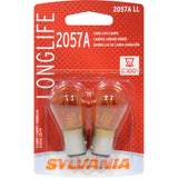 2-PK SYLVANIA 2057A Miniature Incandescent Long Life Bulb