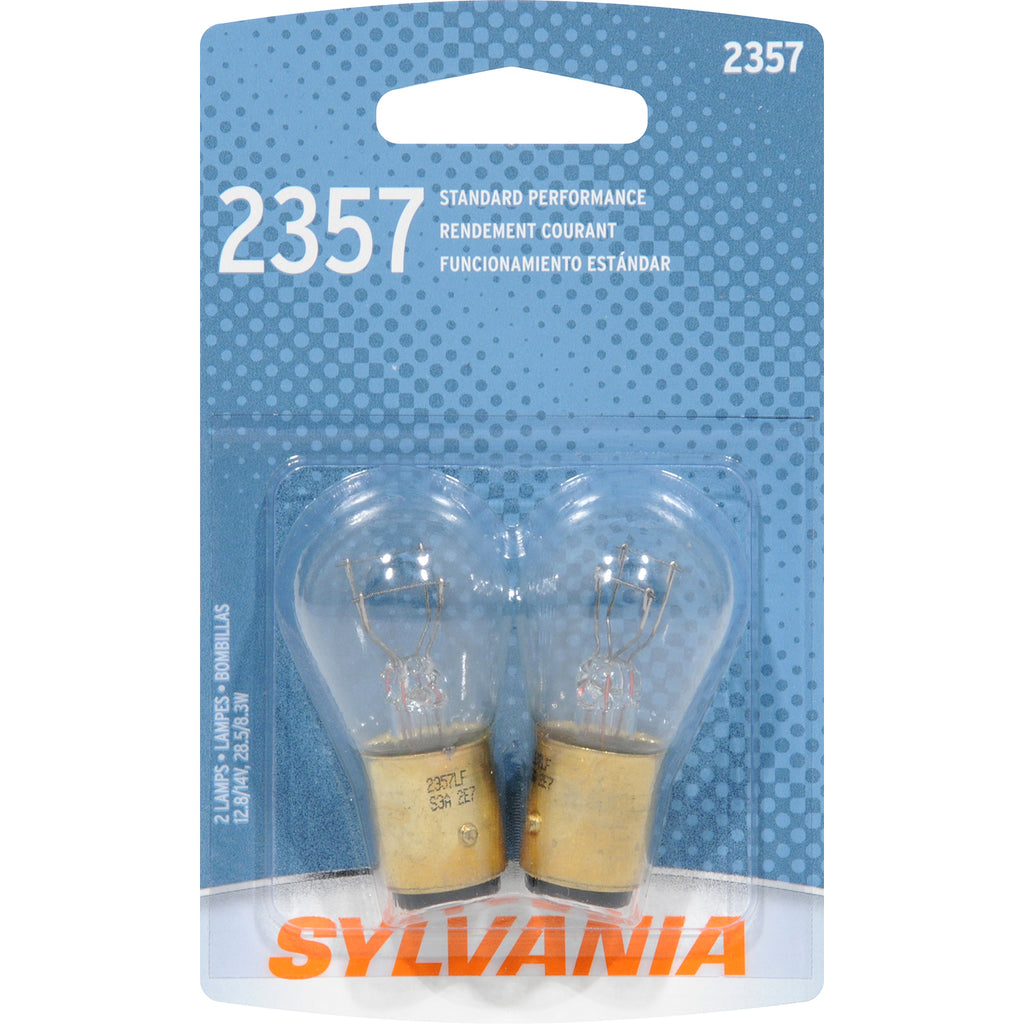 2-PK SYLVANIA 2357 Basic Automotive Light Bulb