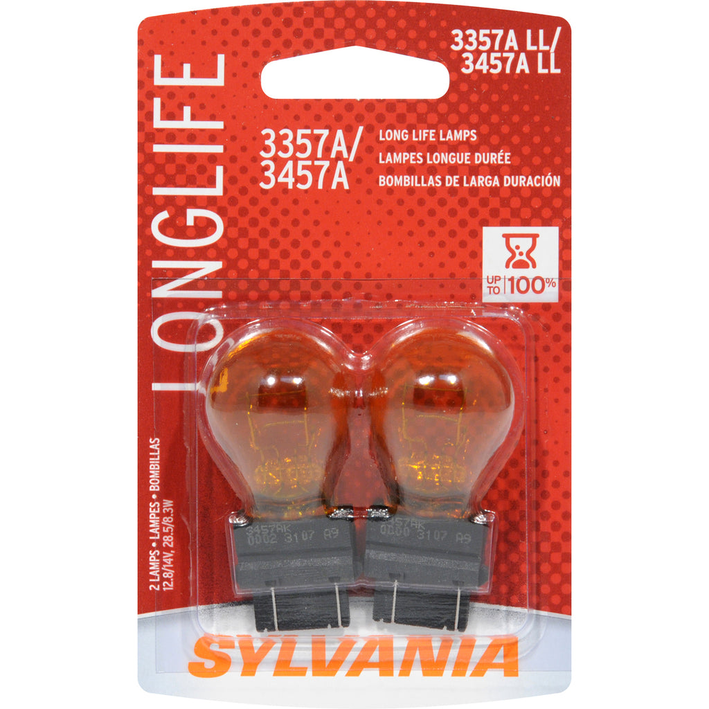 2-PK SYLVANIA 3357A/3457A Long Life Automotive Light Bulb